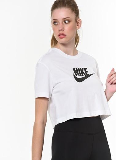 Nike Nike Sportswear Essential Kısa Kadın T-Shirt Beyaz